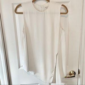 Babaton sleeveless asymmetric blouse